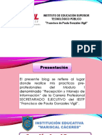 Presentacion i.e. Mariscal Cáceres