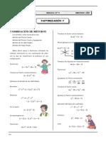 III BIM - 3º sec - Guía 5 - Factorización V