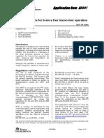 Swra090-SRD Regulations for Licence Free Transceiv
