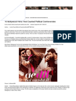 10 Bollywood Films That Courted Political Controversies - DesiMartini
