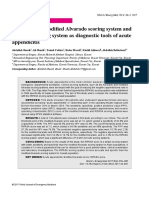 Evaluation of Modifi Ed Alvarado Scoring System And