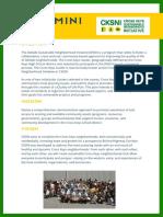 Cross Key Sustainable Neighborhood Initiative (Cksni) Mini Grant Opportunity