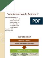 Administración de Actitudes