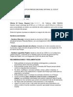Informe Practica Parque Nacional Natural El Cocuy