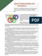 Principios Fundamentales Del Olimpismo