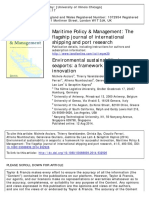 Environmental sustainability in seaports