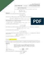 Corrección Segundo Parcial de Cálculo III, 27 de noviembre de 2017