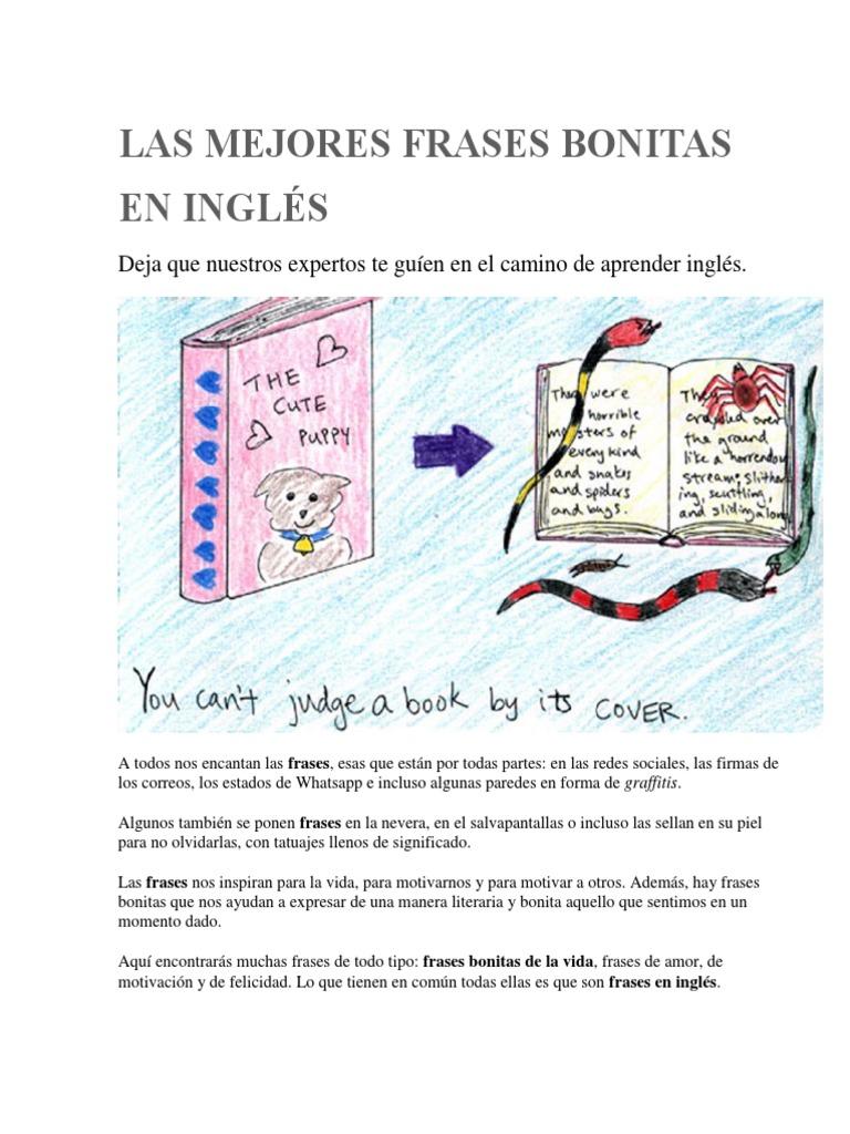 Las Mejores Frases Bonitas En Inglés