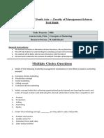 Test Bank - Principles of Marketing