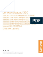 Manual de Usuario Lenovo Poortatil