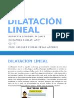 DILATACIÓN Mec.de Solidos
