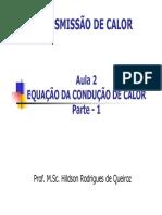 Aula 2 - Equação Da Condução de Calor (Parte 1)