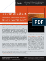 Table Matters Promo Flyer