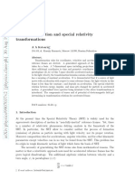 Accelerated motion and special relativity transformations