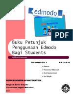 Buku Petunjuk Penggunaan Edmodo Bagi Students by Kelompok 2
