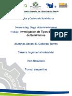Investigacion Tipos de Cadena de Suministros (Gallardo)