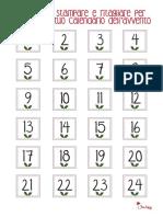 Numeri Per Calendario Avvento.Numeri Rotondi Calendario Dell Avvento