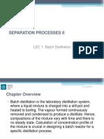 Lec 1 Batch Distillation