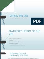 Law 351 Lifting the Veil