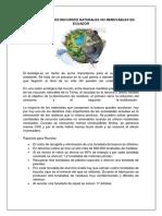Reciclaje de Los Recursos Naturales No Renovables en Ecuador