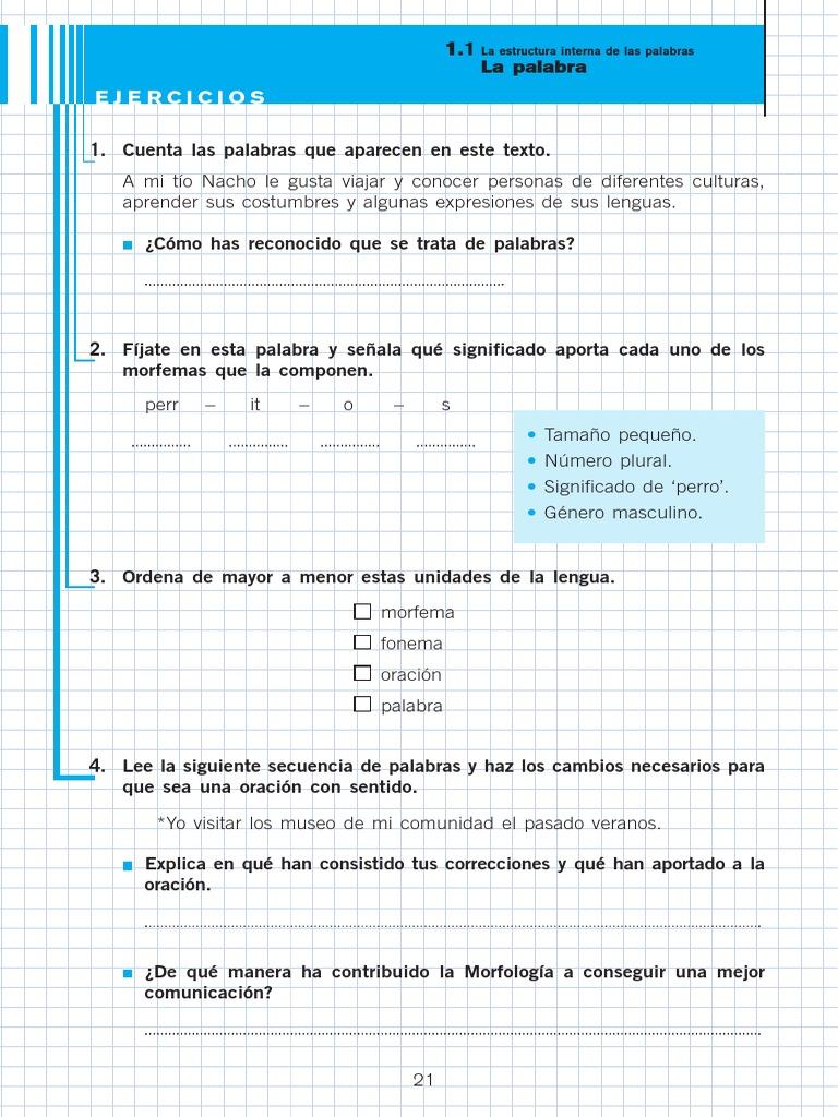 Ejercicios Morfología Tema 2