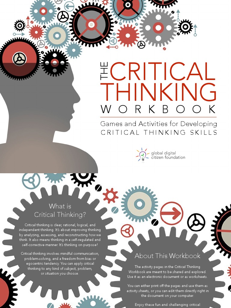 Critical Thinking Workbook NEW | Critical Thinking | Thought