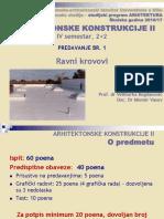 Predavanje 1 - Ravni Krovovi (2016-2017)