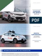 GM autonomous driving presentation