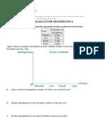 Avaliação de Matemática 4º Bimestre