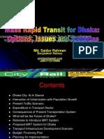 Mass Rapid Transit for Future Dhaka