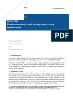 Case Study Developing Trade Mark Strategy