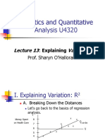 Statistics and Quantitative Analysis