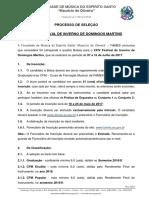Edital Domingos Martins 2017