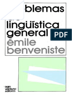 Emile Benveniste Problemas de Linguistica Genera