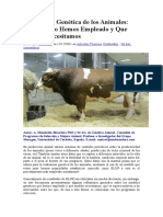 Evaluación Genética de Los Animales_ Que Modelo Hemos Empleado y Que Modelo Necesitamos