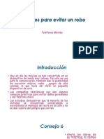 informatica PowerPoint( consejos para evitar un robo )