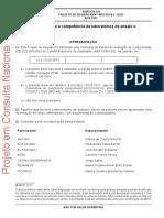 PROJETO de REVISÃO ABNT NBR ISO_IEC 17025, Requisitos Gerais Para a Competência de Laboratórios de Ensaio e Calibração