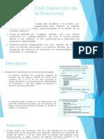 Cuestionario DME (Detección de Malestar Emocional)