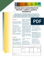 Normas Para La Presentaci_n de Informes, Cuadros y Gr_ficos Estad_sticos