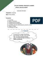 CENTRO ESCOLAR CORONEL FRANCISCO LINARES GUÍA DE LENGUAJE 3°