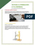 Requisitos Para La Formación de Una Empresa