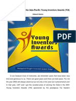 The Asia-Pacific Young Inventors Awards (YIA)