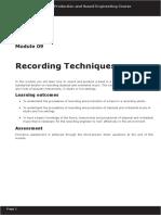 Module 09 - Recording Techniques