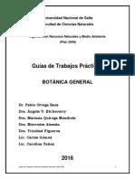 Guías de Trabajos Prácticos Botánica General 2016