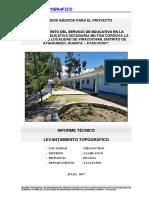 Informe Topografico MILTON CORDOVA