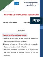 volumen de un solido de revolucion
