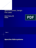 Apocrine Tumors, Benign, Five Cases