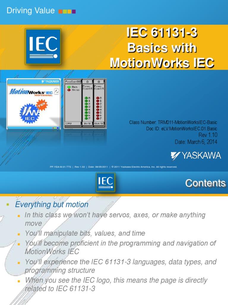 TRM011 MotionWorksIEC Basic (1) | Input/Output | Programmable Logic