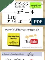 Ejercicios Sobre Límites Algebráicos - Ejemplo 1 Cálculo Diferencial