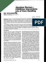 Anderson, W. G. - Wettability Literature Survey